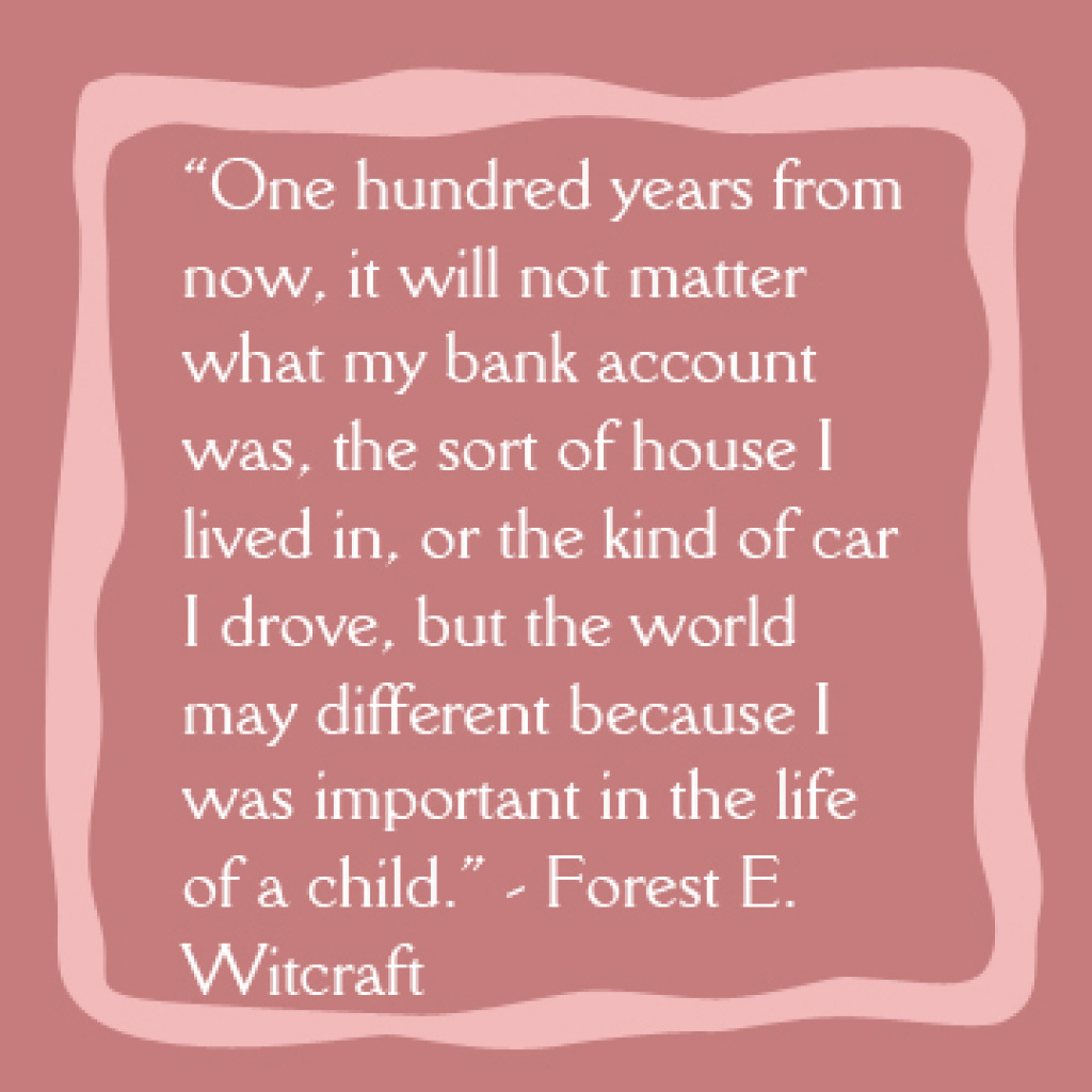 Quotes About Whats Important In Life New Importantinthelifeofachildquote  Cargill United Methodist